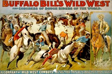 Poster celebrating the great touring Wild West Show